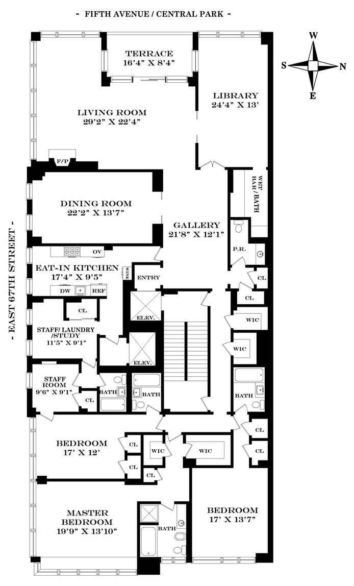 857 Fifth Avenue, Upper East Side, NYC, $6,500,000, Web #: 16049908