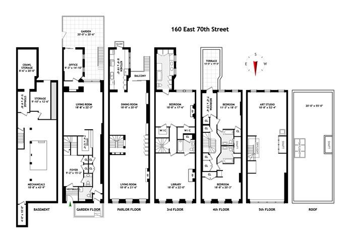 160 East 70th Street, Upper East Side, NYC, $9,350,000, Web #: 16050011