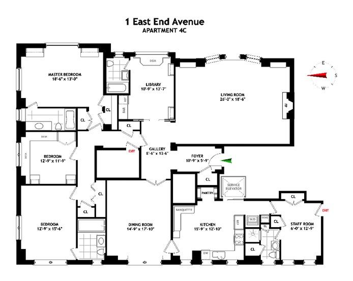 1 East End Avenue, Upper East Side, NYC, $3,200,000, Web #: 16080607