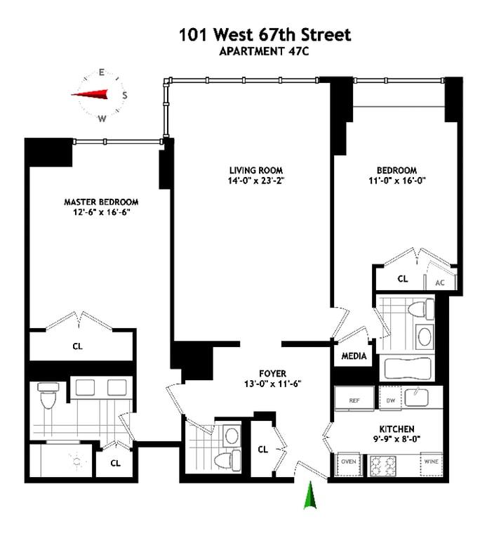 101 West 67th Street, Upper West Side, NYC, $4,200,000, Web #: 16120284