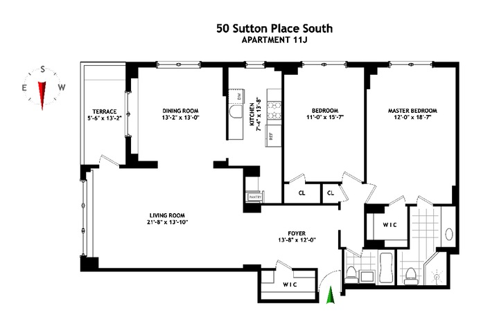 50 Sutton Place South, Midtown East, NYC, $1,650,000, Web #: 16135068