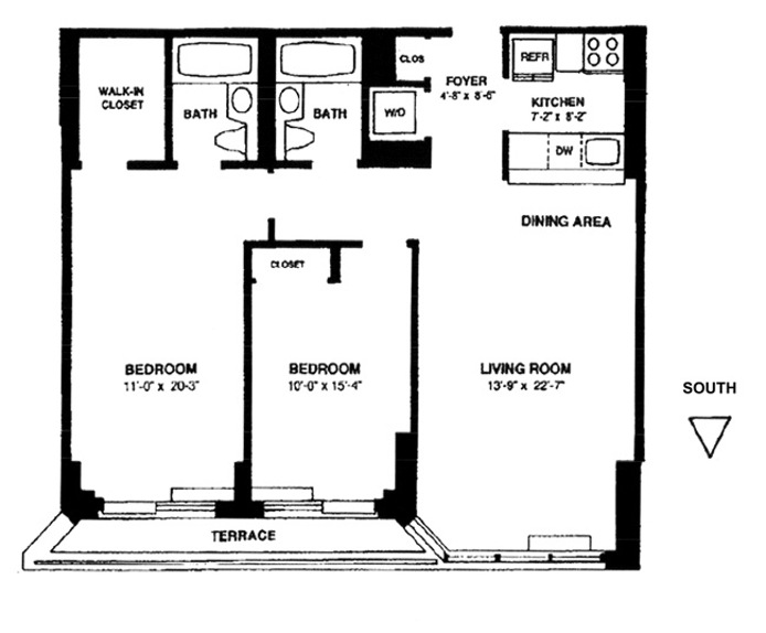 201 West 72nd Street 4D, Upper West Side, NYC, $5,800, Web #: 16140430