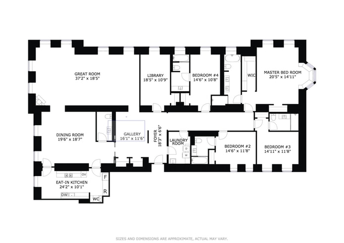 101 West 78th Street 5A, Upper West Side, NYC, $12,695,000, Web #: 16146639