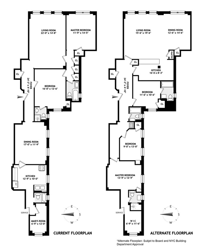 415 Central Park West, Upper West Side, NYC, $1,773,000, Web #: 16174220