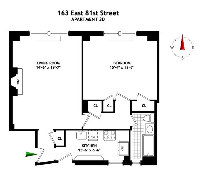 163 East 81st Street, Upper East Side, NYC, $775,000, Web #: 16194752