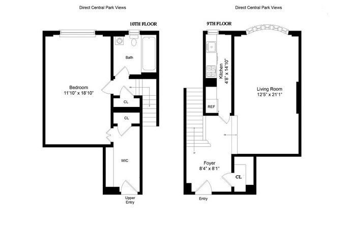 25 Central Park West, Upper West Side, NYC, $2,450,000, Web #: 16207810