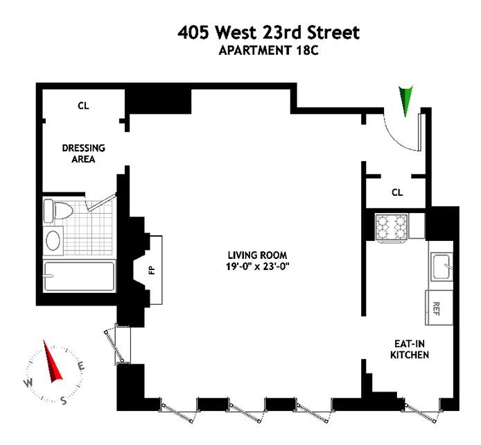 West 23rd Street, Greenwich Village/Chelsea, NYC, $3,750, Web #: 16208301