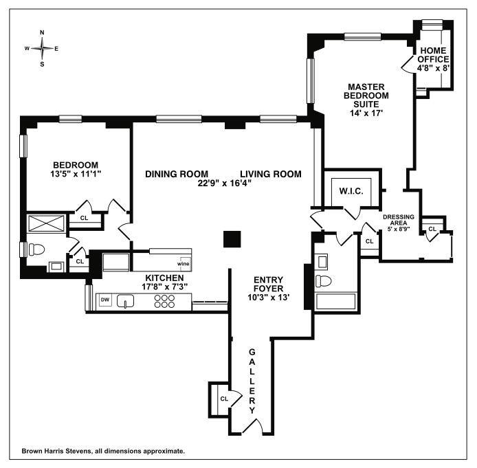 2 Beekman Place 11F, Midtown East, NYC, $1,610,000, Web #: 16272225