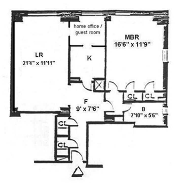 Central Park West, Upper West Side, NYC, $2,900, Web #: 16316944