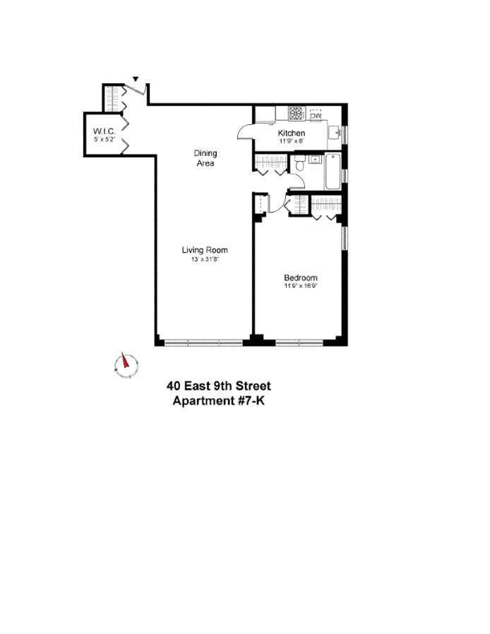 40 East 9th Street, East Village, NYC, $1,250,000, Web #: 16434079