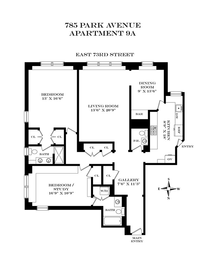 785 Park Avenue 9A, Upper East Side, NYC, $2,000,000, Web #: 16444320