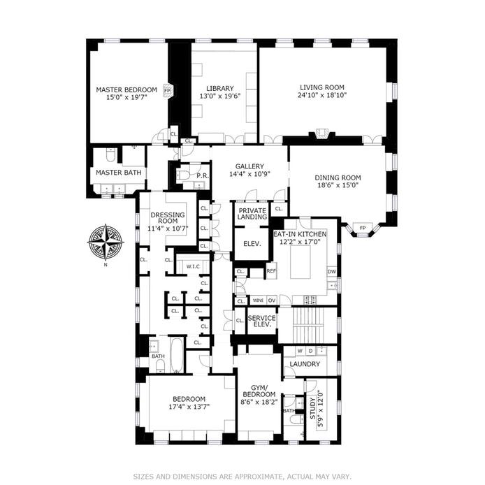 21 East 79th Street 12, Upper East Side, NYC, $13,500,000, Web #: 16464068