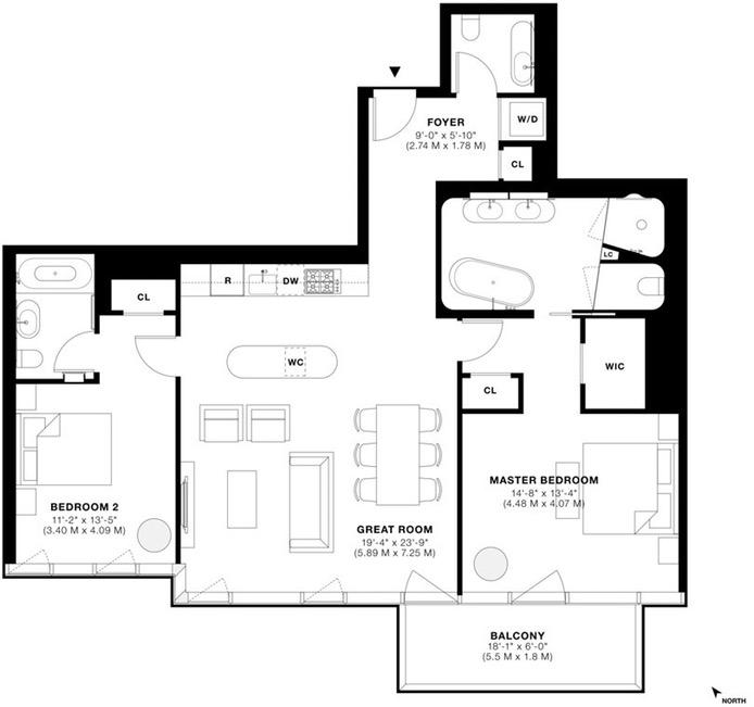 56 Leonard Street 41Beast, Tribeca/SOHO/Chinatown, NYC, $4,750,000, Web #: 16488814