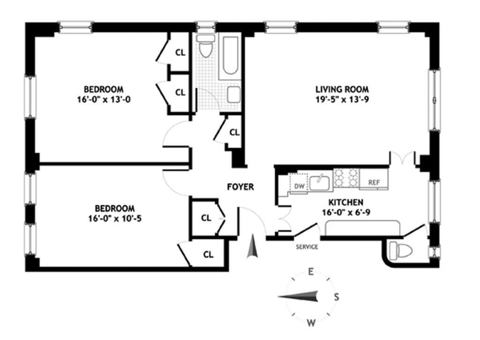 41 Fifth Avenue, East Village, NYC, $6,900, Web #: 16495037