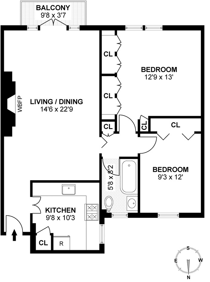 171 West 12th Street 4A, Greenwich Village/Chelsea, NYC, $1,822,000, Web #: 16517204