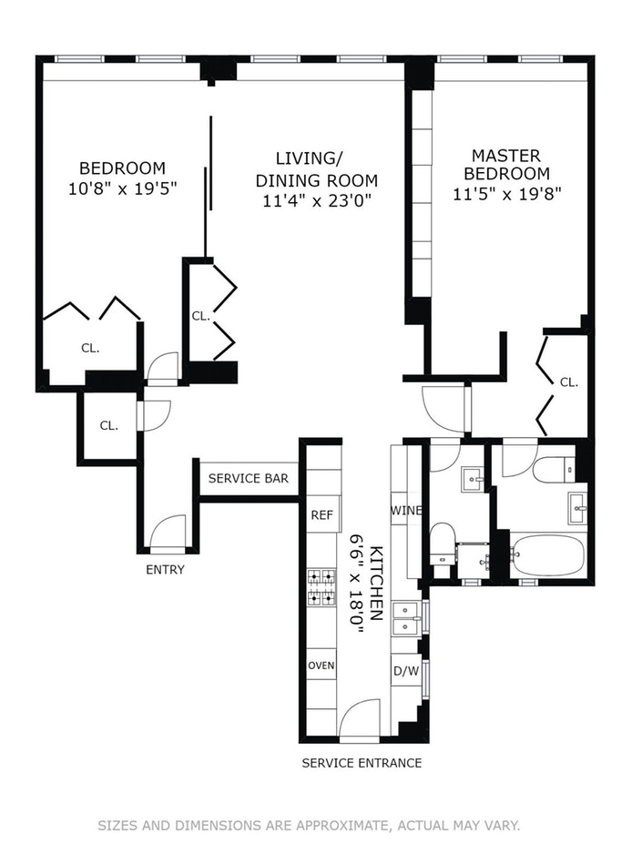 11 West 69th Street 2A, Upper West Side, NYC, $1,775,000, Web #: 16583012