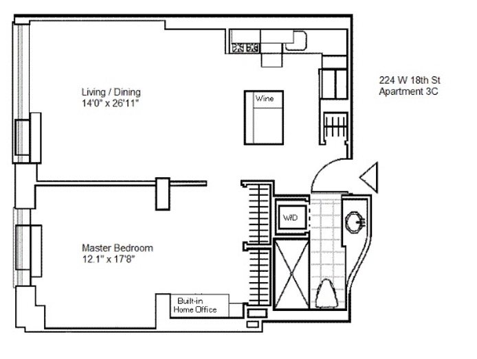224 West 18th Street, Greenwich Village/Chelsea, NYC, $1,230,000, Web #: 16588259