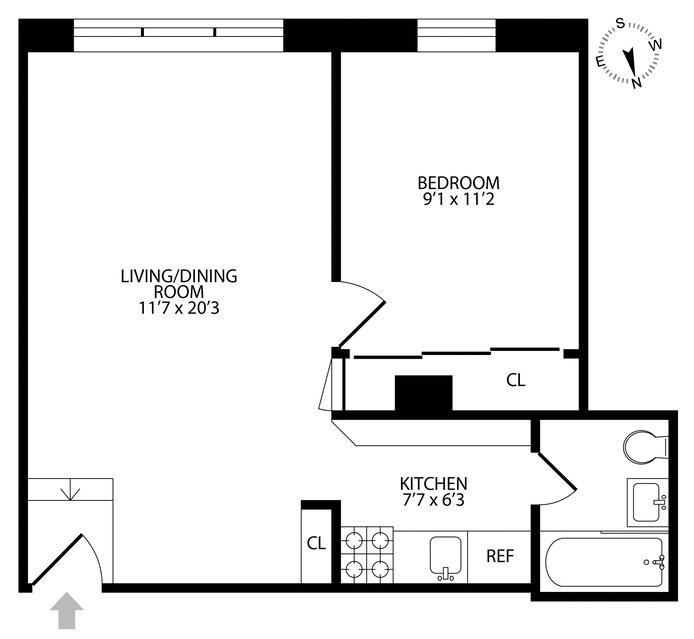 320 West 19th Street, Greenwich Village/Chelsea, NYC, $750,000, Web #: 16589022