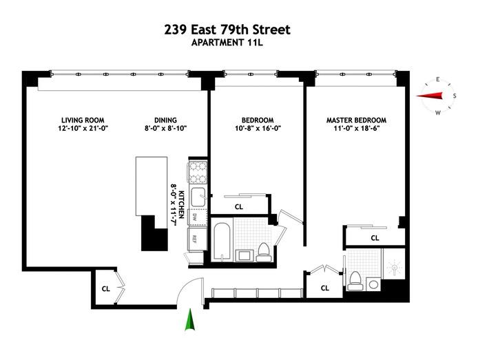 239 East 79th Street, Upper East Side, NYC, $1,500,000, Web #: 16601127
