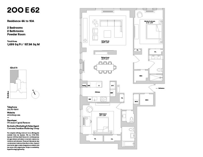200 East 62nd Street, Upper East Side, NYC, $8,995, Web #: 16633104