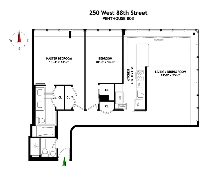 250 West 88th Street, Upper West Side, NYC, $1,870,000, Web #: 16685545