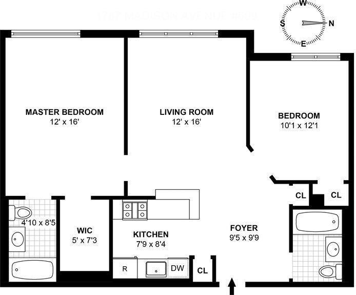 1787 Madison Avenue 509, East Harlem, NYC, $650,000, Web #: 16692384