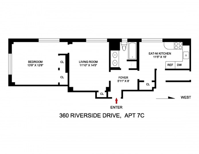 360 Riverside Drive, Upper West Side, NYC, $750,000, Web #: 16713322