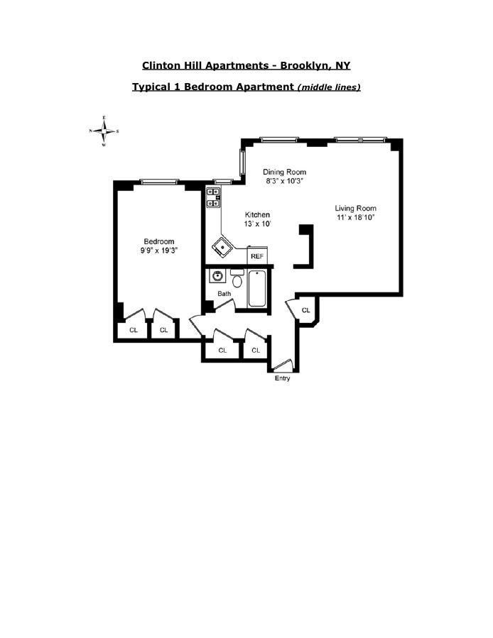 210 Clinton Avenue 4H, Clinton Hill, New York, $569,000, Web #: 16713459
