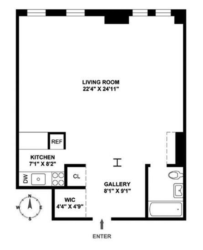 470 West 24th Street, Greenwich Village/Chelsea, NYC, $3,700, Web #: 16732075