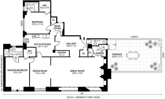 44 Gramercy  Park North 12A, Flatiron/Gramercy Park, NYC, $4,400,000, Web #: 16752144