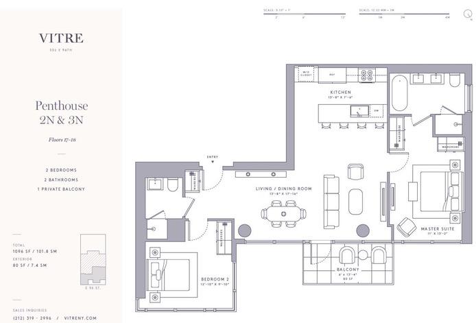 302 East 96th Street Ph2n, Upper East Side, NYC, $1,995,000, Web #: 16752921