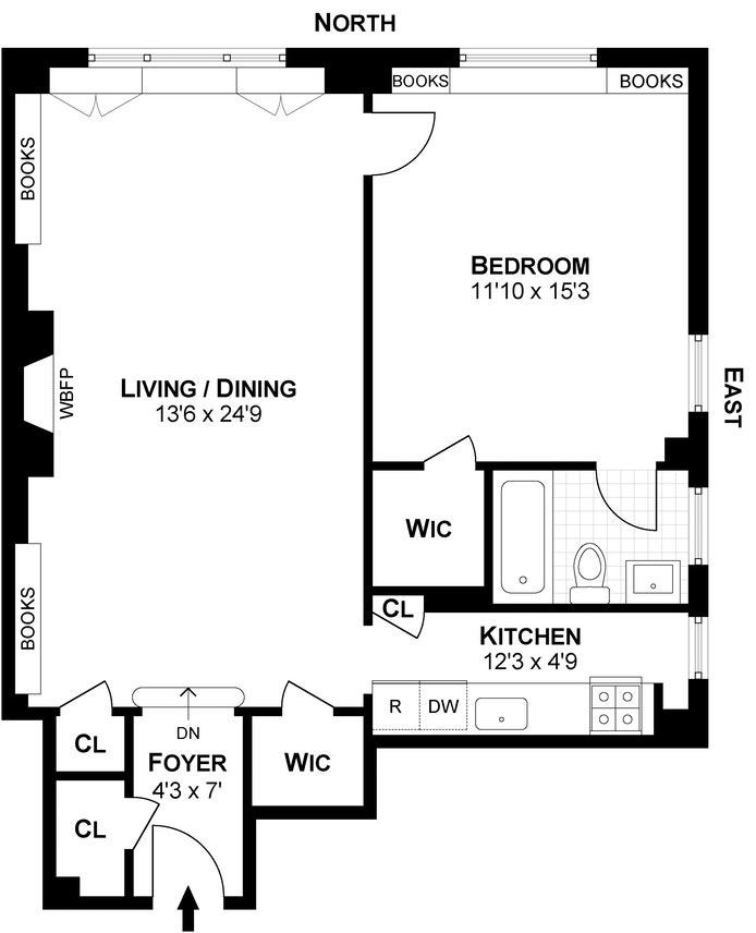 45 Christopher Street 4F, West Village, NYC, $1,595,000, Web #: 16796821