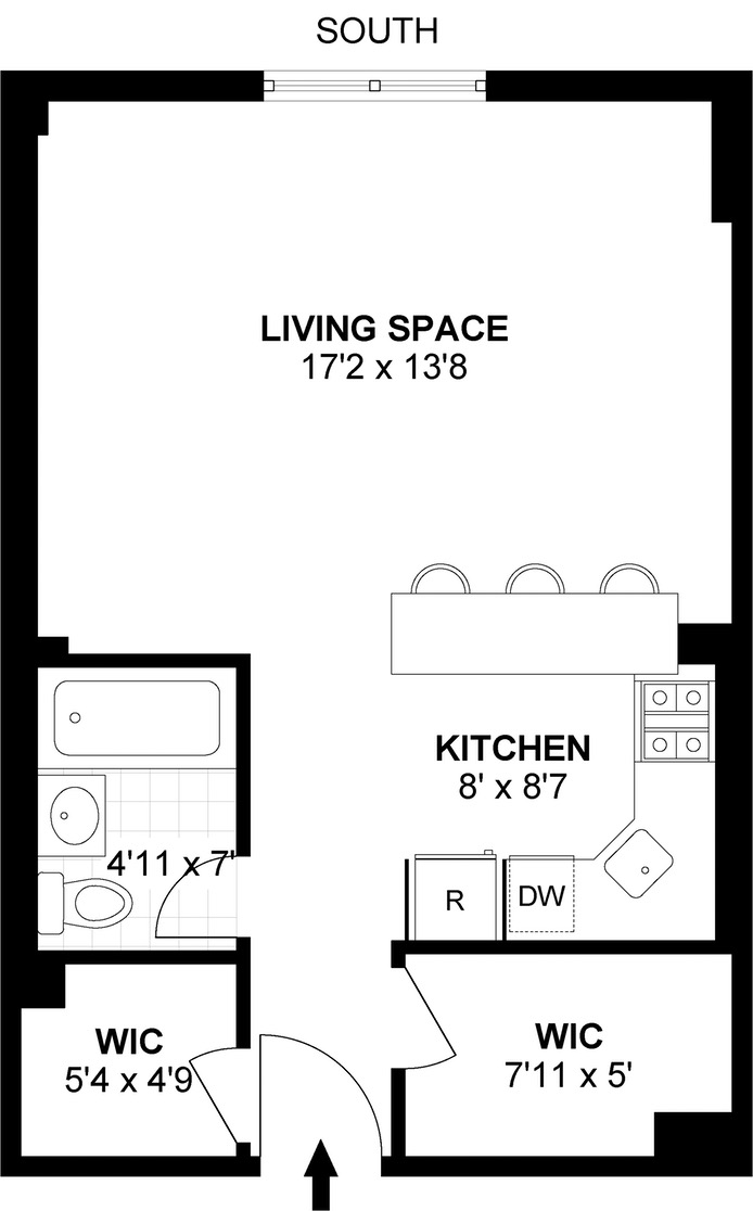 185 West Houston Street, West Village, NYC, $585,000, Web #: 16826685