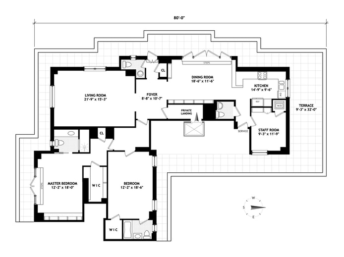 400 West End Avenue, Upper West Side, NYC, $4,500,000, Web #: 17001684