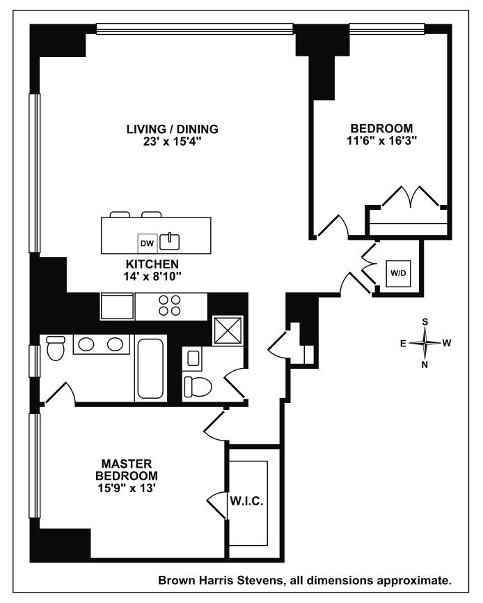 350 West 42nd Street 54G, Midtown West, NYC, $2,545,000, Web #: 17009812