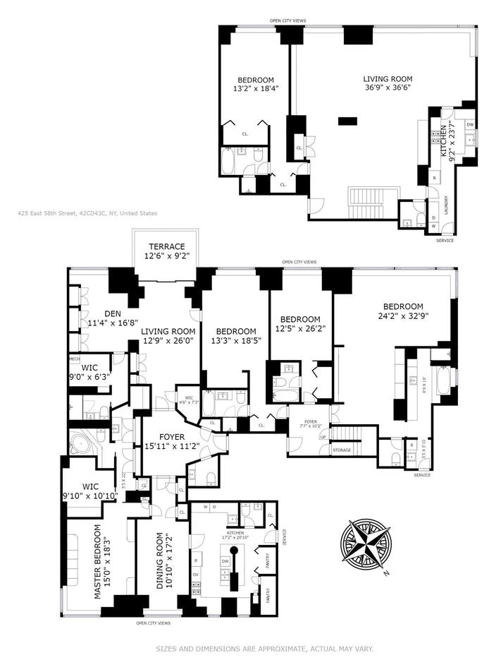 425 East 58th Street 42Cd 43C, Midtown East, NYC, $5,995,000, Web #: 17028416