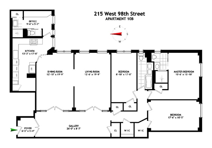 215 West 98th Street 10B, Upper West Side, NYC, $2,520,000, Web #: 17033915