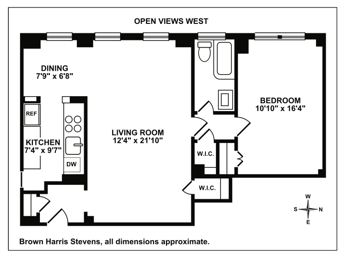 175 West 93rd Street 17B, Upper West Side, NYC, $735,000, Web #: 17108891