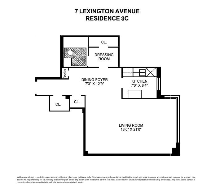 7 Lexington Avenue, Flatiron/Gramercy Park, NYC, $2,700, Web #: 17109675