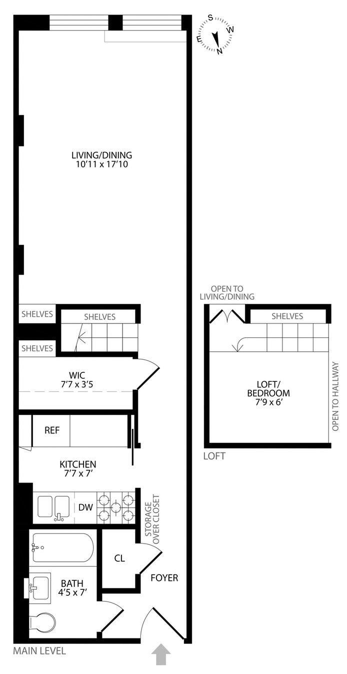 43 East 10th Street 4C, Central Village, NYC, $824,900, Web #: 17160848