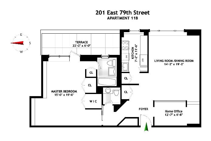 201 East 79th Street 11B, Upper East Side, NYC, $1,088,888, Web #: 17181867