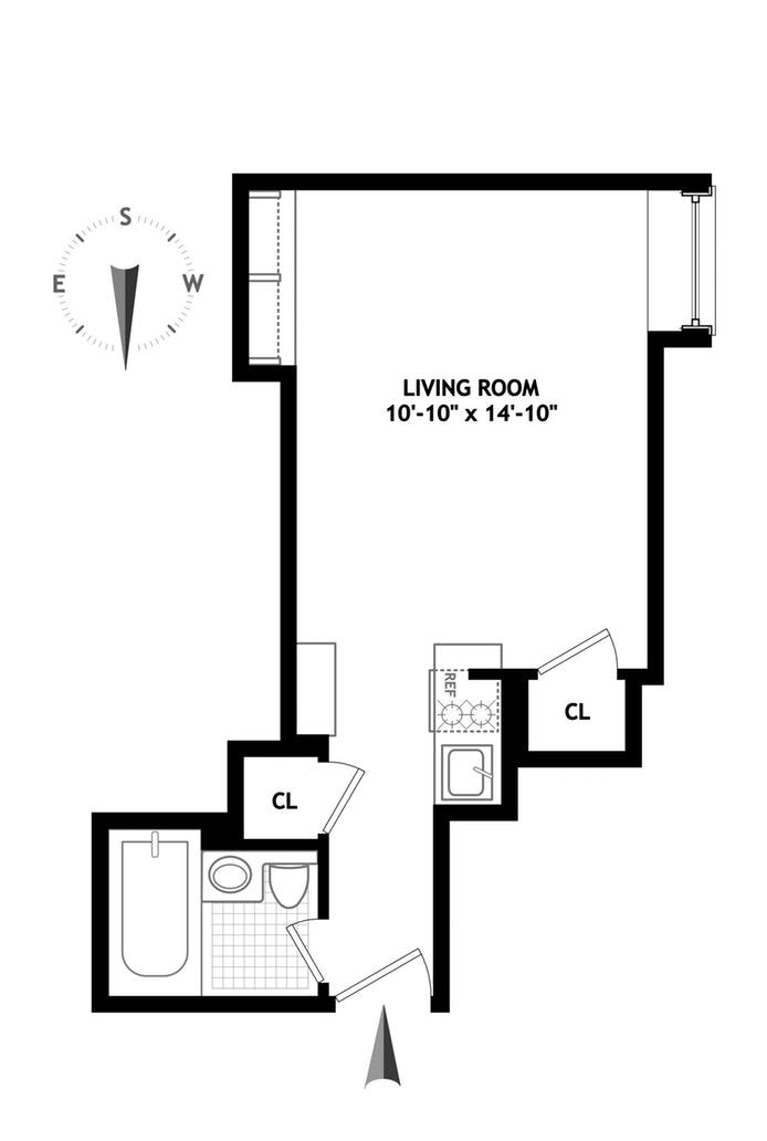 25 Tudor City Place 1707, Midtown East, NYC, $345,000, Web #: 17205815