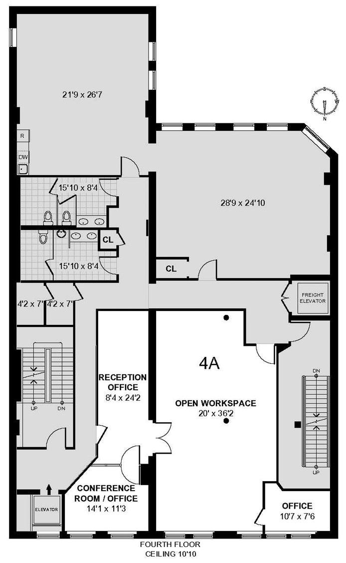 179 Franklin Street 4A, Tribeca, NYC, $11,880, Web #: 17225677