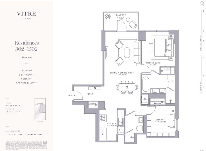 302 East 96th Street 1402, Upper East Side, NYC, $1,775,000, Web #: 17280973