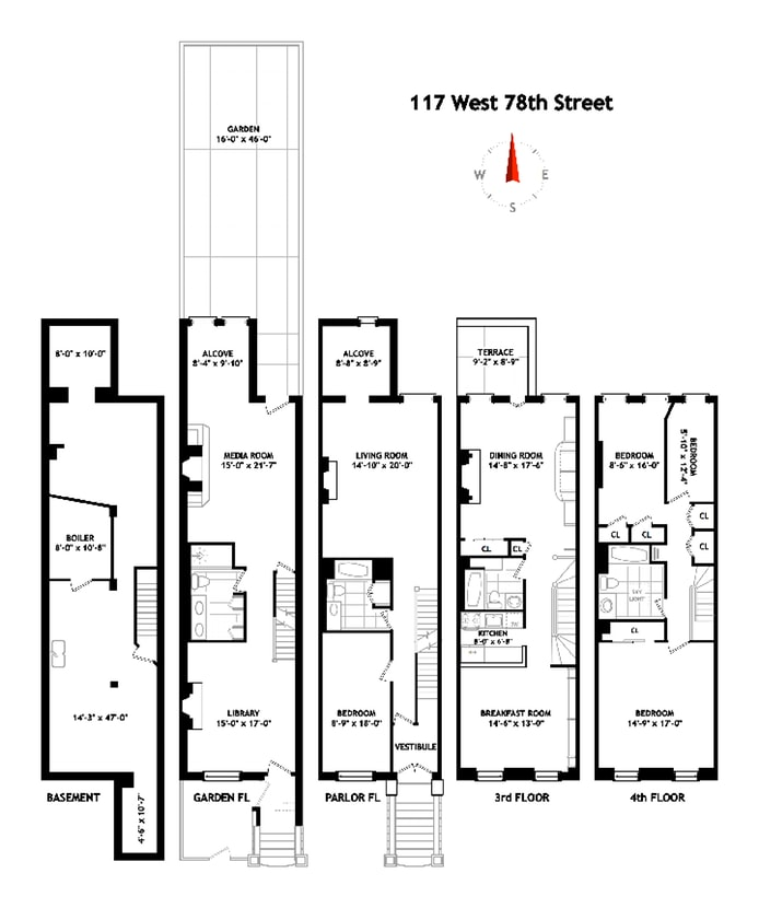 117 West 78th Street, Upper West Side, NYC, $5,000,000, Web #: 17330216