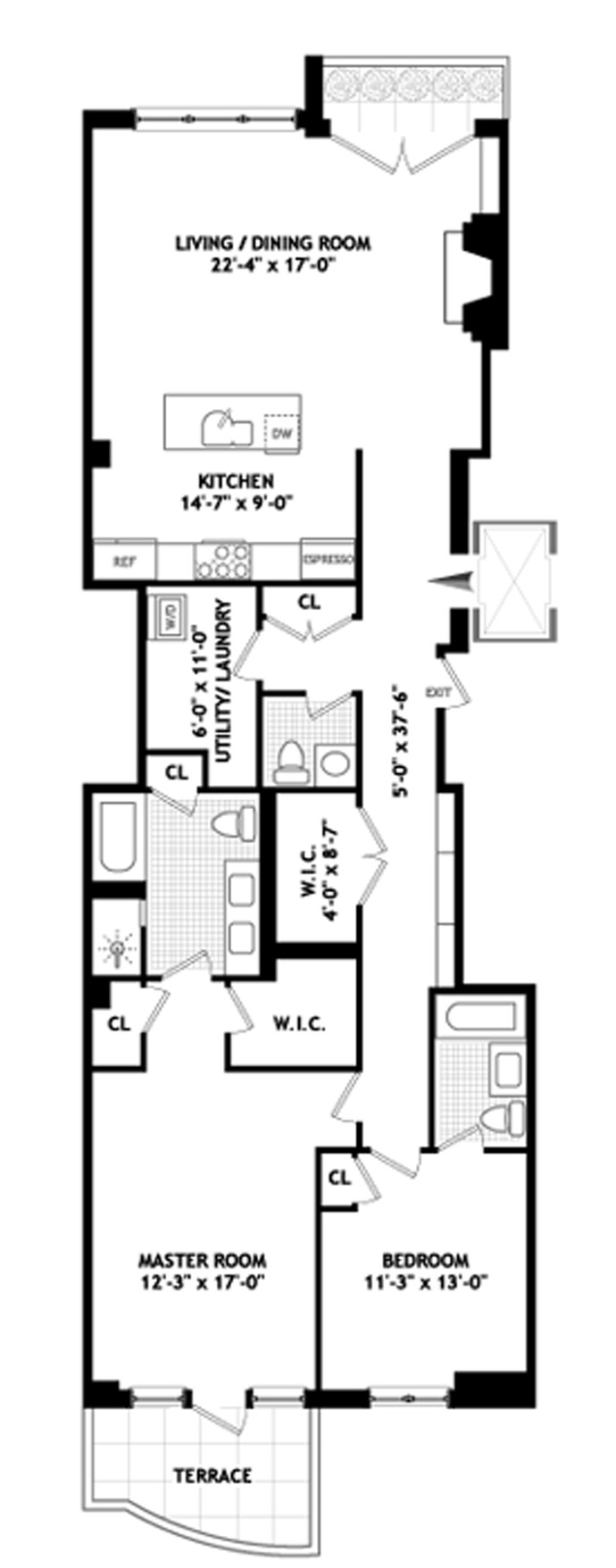 206 East 73rd Street, Upper East Side, NYC, $2,500,000, Web #: 1739968
