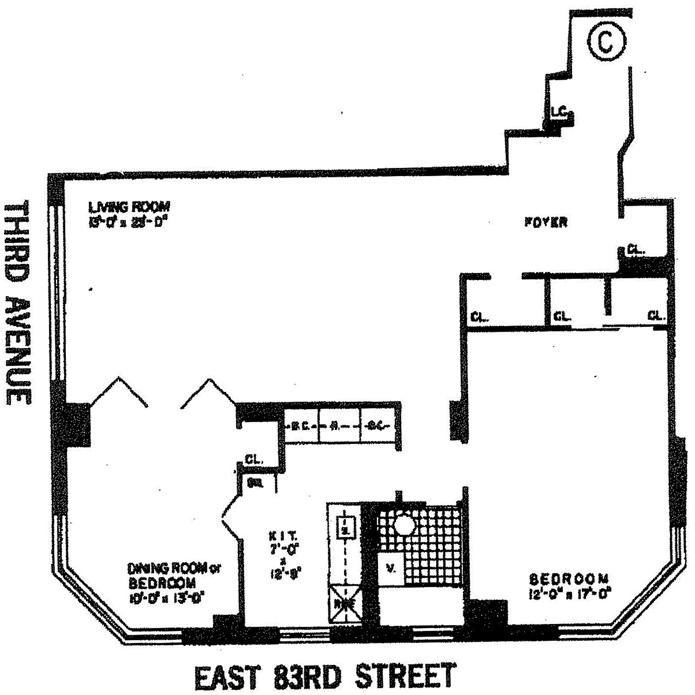201 East 83rd Street, Upper East Side, NYC, $705,000, Web #: 1741086