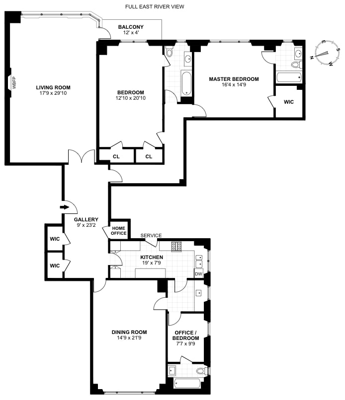 10 Gracie Square 6C, Upper East Side, NYC, $3,600,000, Web #: 17424076