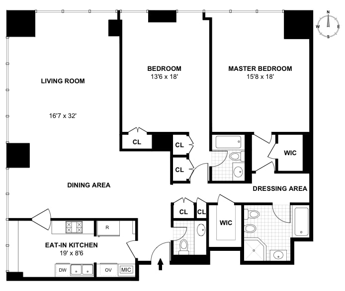 641 Fifth Avenue 25A, Midtown East, NYC, $13,000, Web #: 17451236