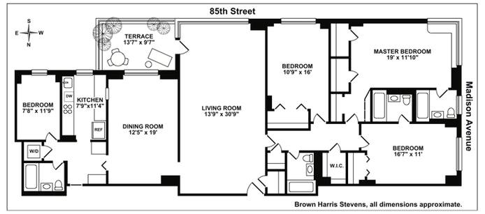 35 East 85th Street 2C, Upper East Side, NYC, $2,850,000, Web #: 17460372
